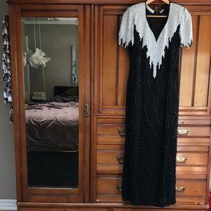 Vintage 80's Scalia Beaded Gown